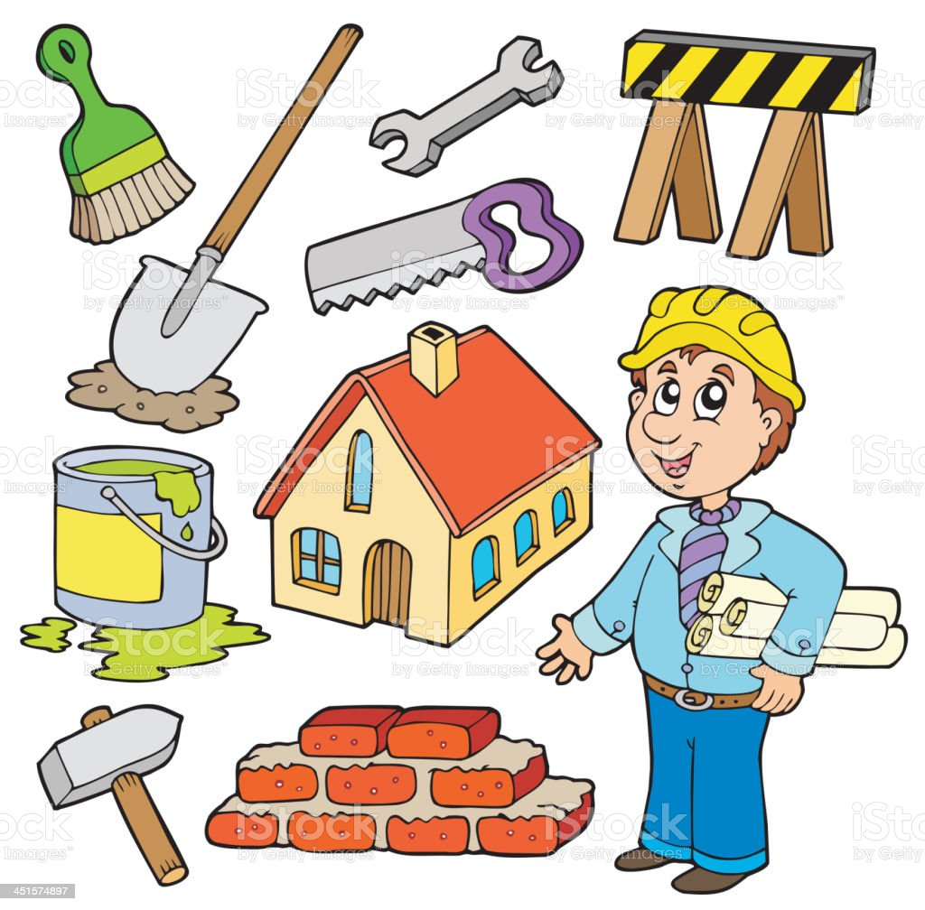 Home improvement collection royalty-free stock vector art