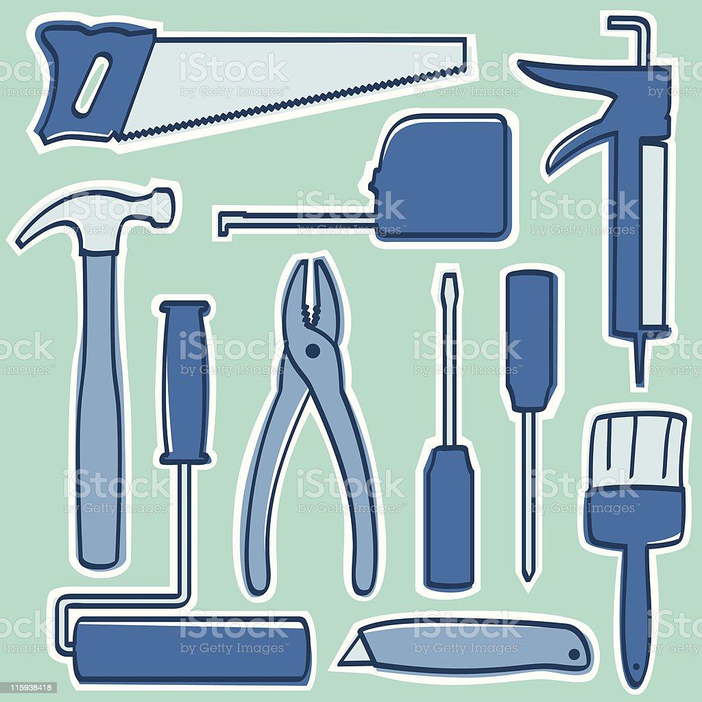 Home Improvement Tools royalty-free stock vector art