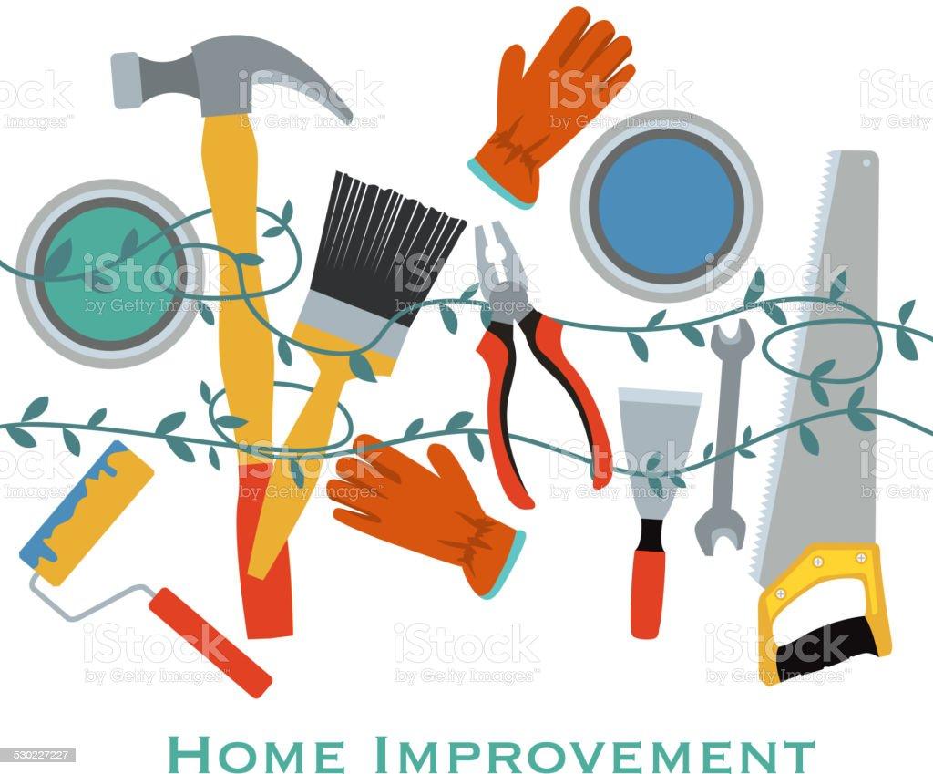Home Improvement vector art illustration