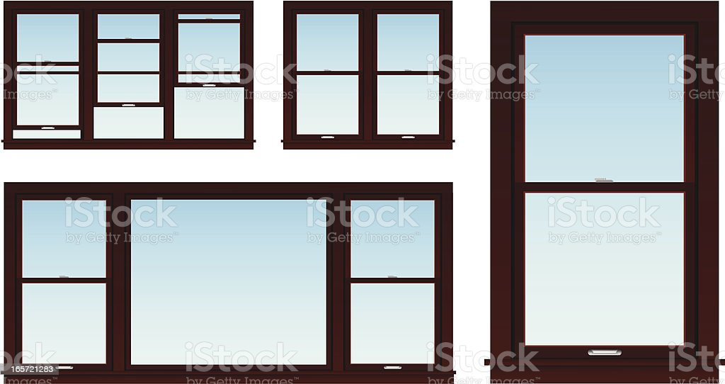 Home improvement windows royalty-free stock vector art
