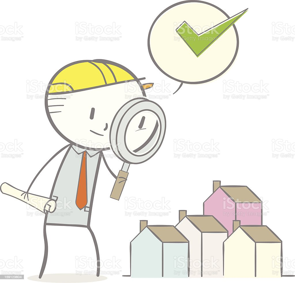 Home Inspection royalty-free stock vector art
