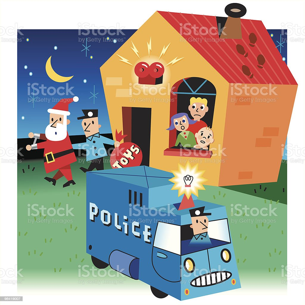 Home Invasion royalty-free stock vector art
