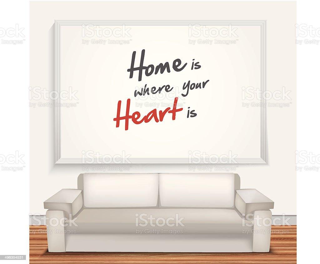 Maison est si votre cœur est est stock vecteur libres de droits libre de droits