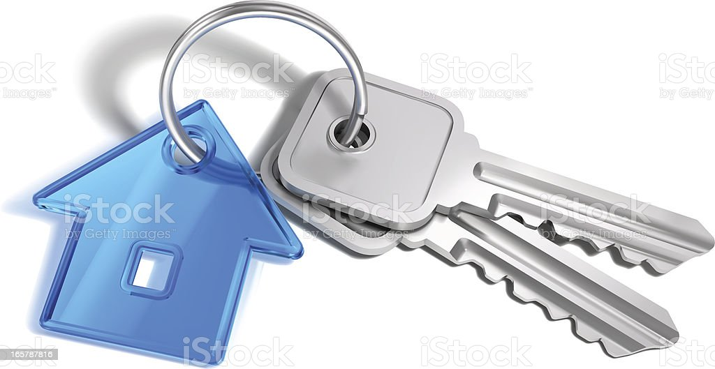 Home Keys royalty-free stock vector art