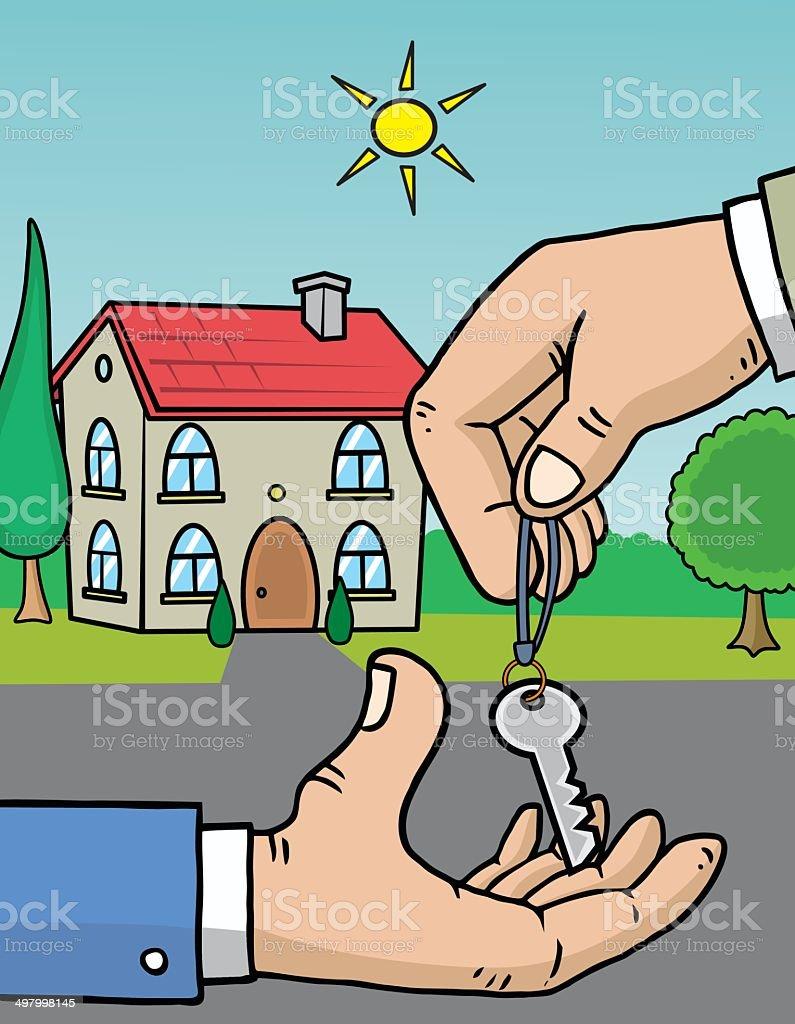 Home keys vector art illustration