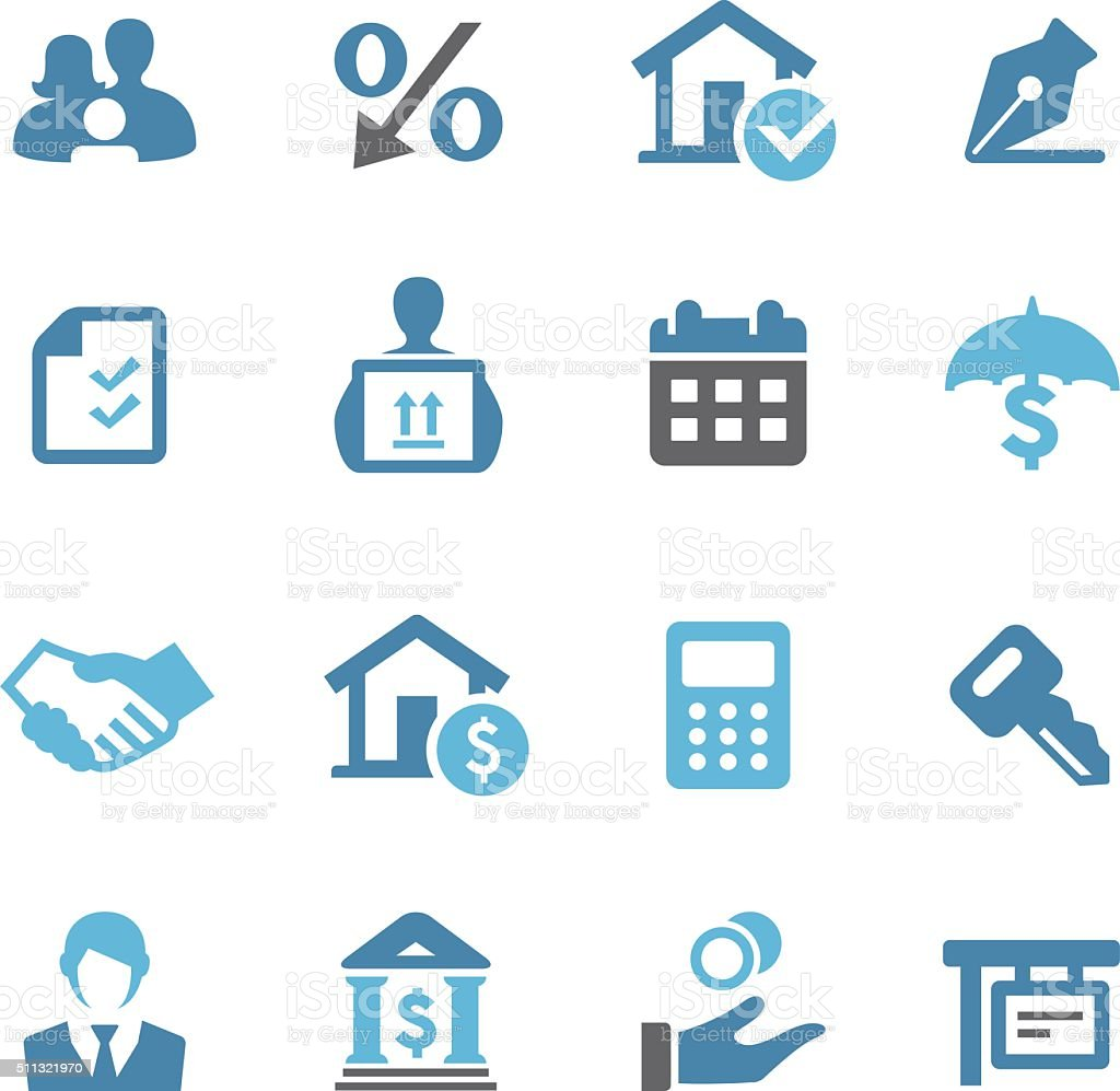Home Mortgage Icons - Conc Series vector art illustration
