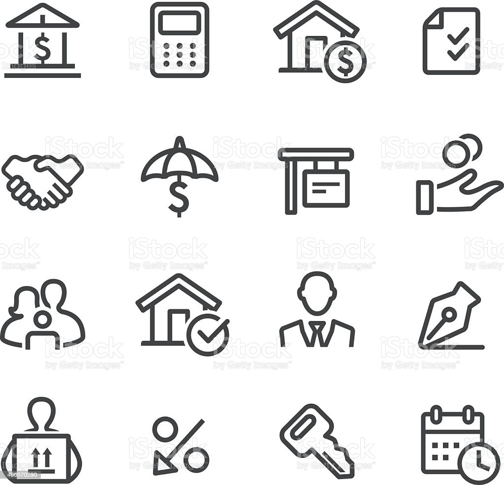 Home Mortgage Icons - Line Series vector art illustration