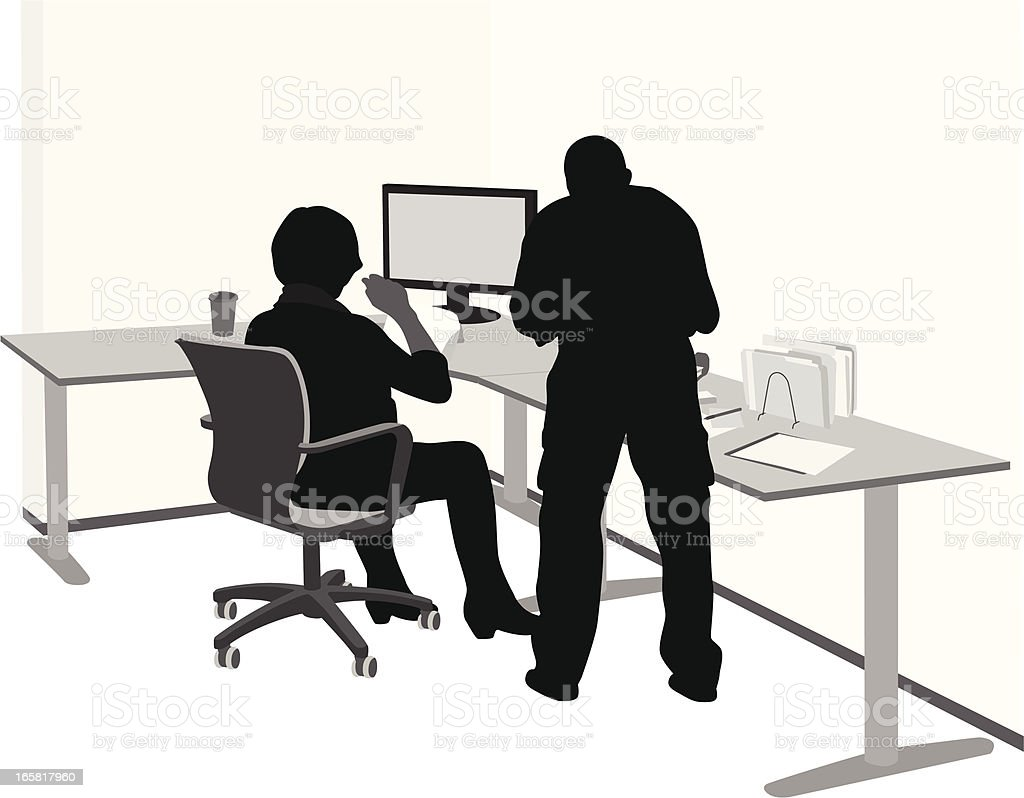 Home Office Vector Silhouette royalty-free stock vector art