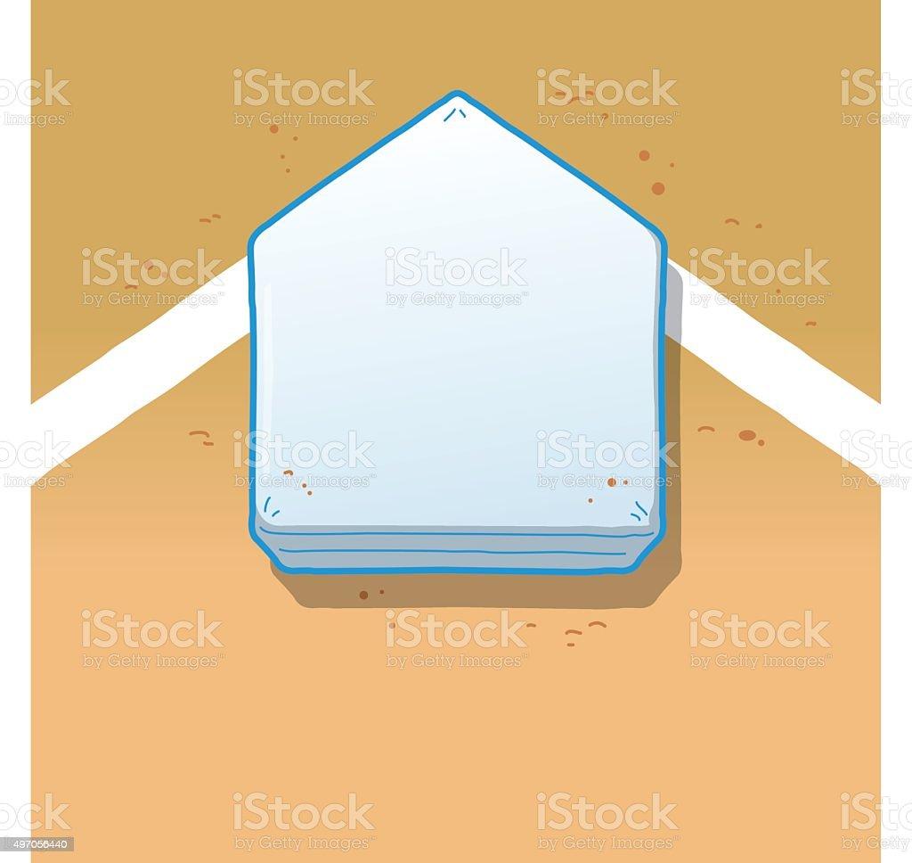 Home Plate vector art illustration