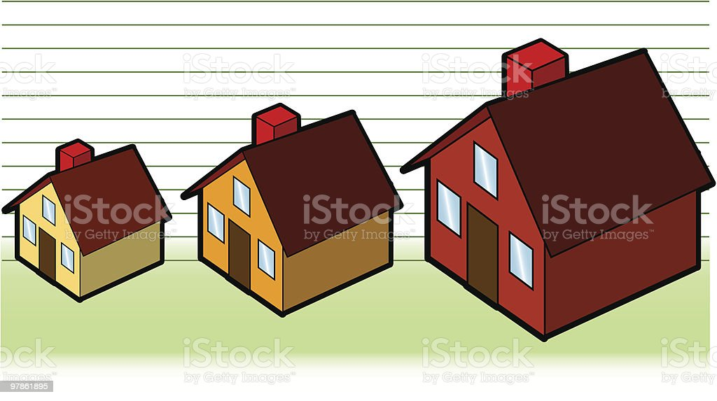 home prices (vector) royalty-free stock vector art