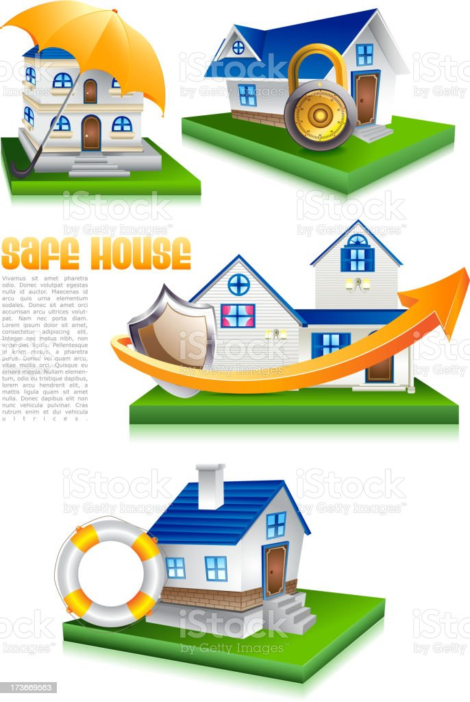 Home Protection royalty-free stock vector art