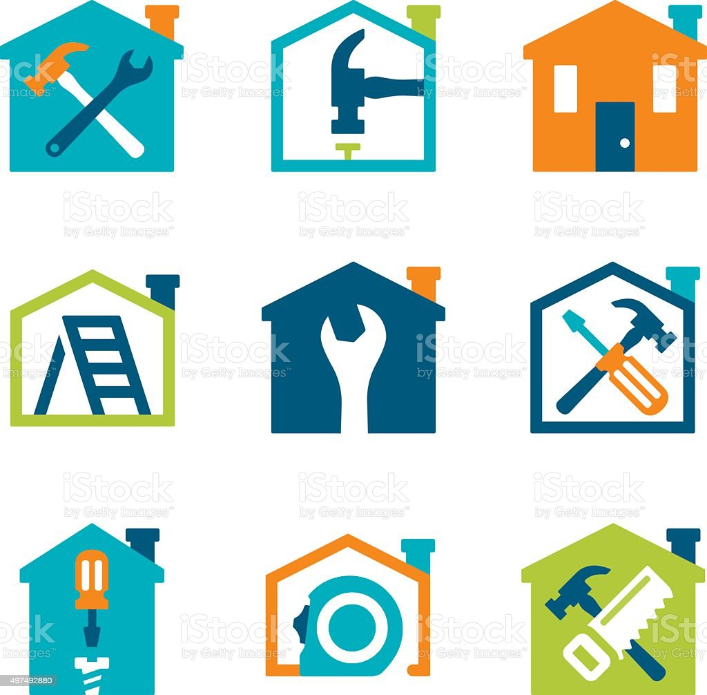 Home Remodeling and Repair vector art illustration