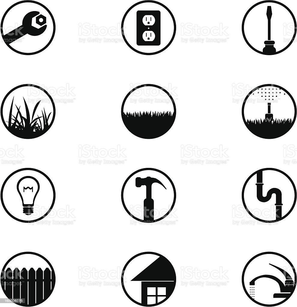 Home Repair Icons (part 1) royalty-free stock vector art