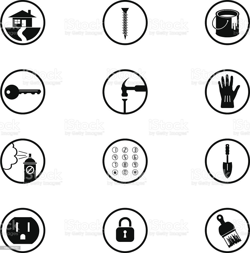 Home Repair Icons (part 2) vector art illustration