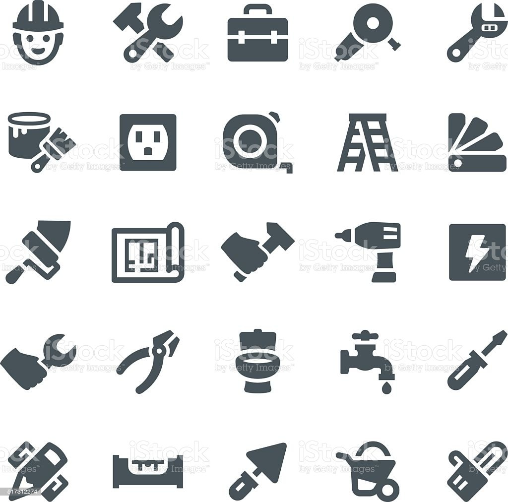 Home Repair Icons royalty-free stock vector art