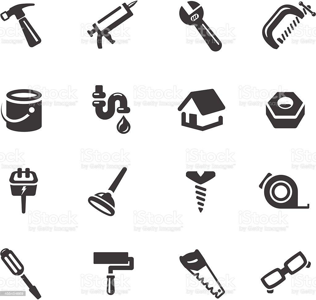 Home Repair Symbols vector art illustration