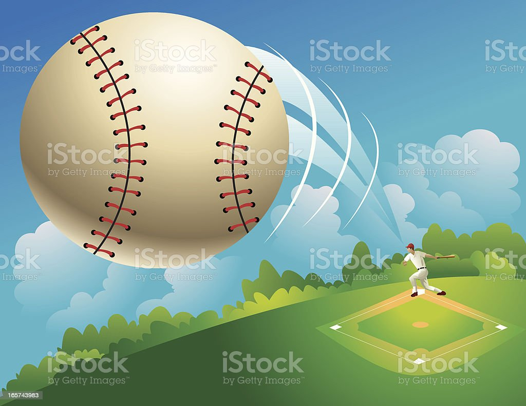 Home run! vector art illustration