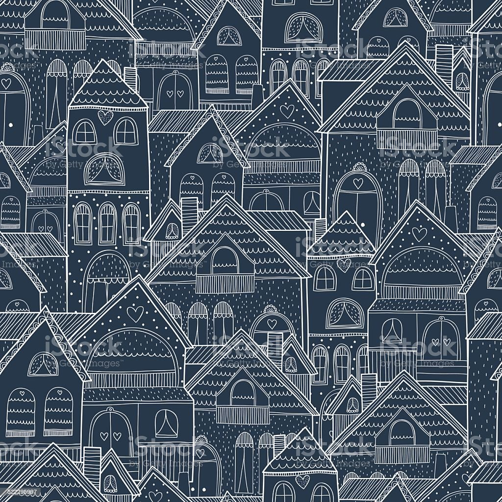 Home seamless background vector art illustration
