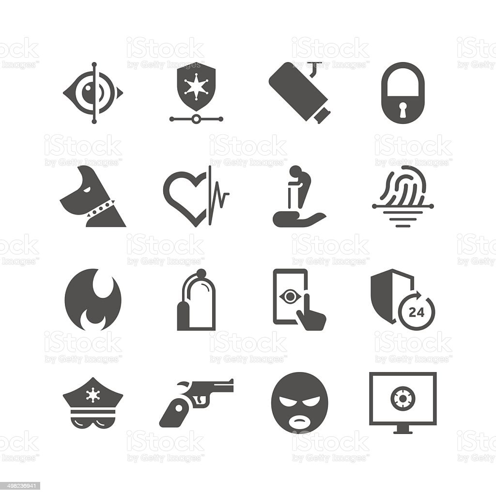 Home Security & Care Icon Set | Unique Series royalty-free stock vector art