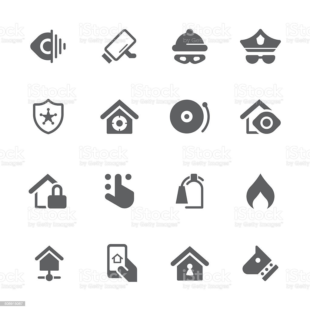Home security icons | prime series vector art illustration