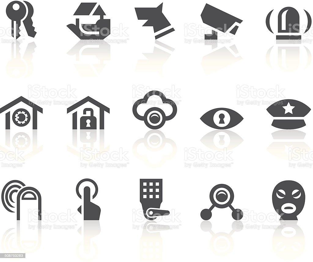 Home Security Icons | Simple Black Series vector art illustration