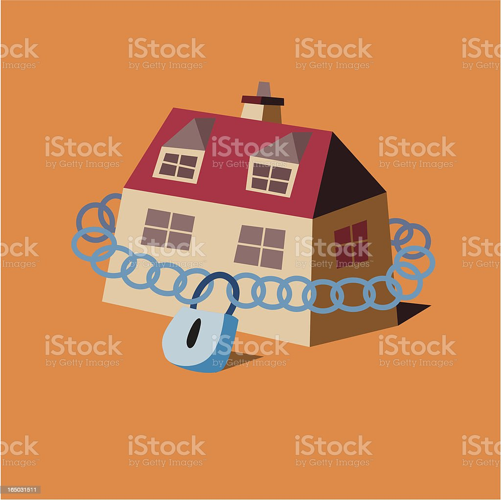 Home Security vector art illustration