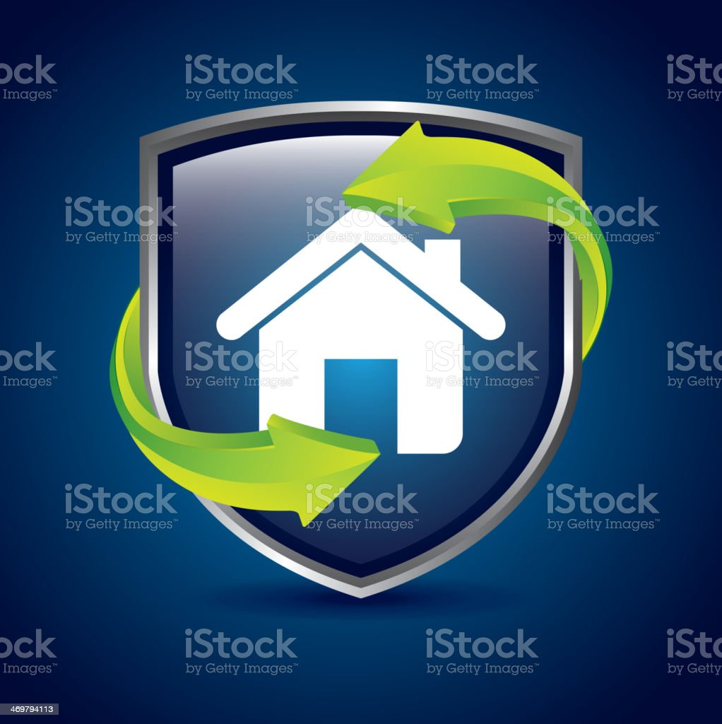home shield royalty-free stock vector art