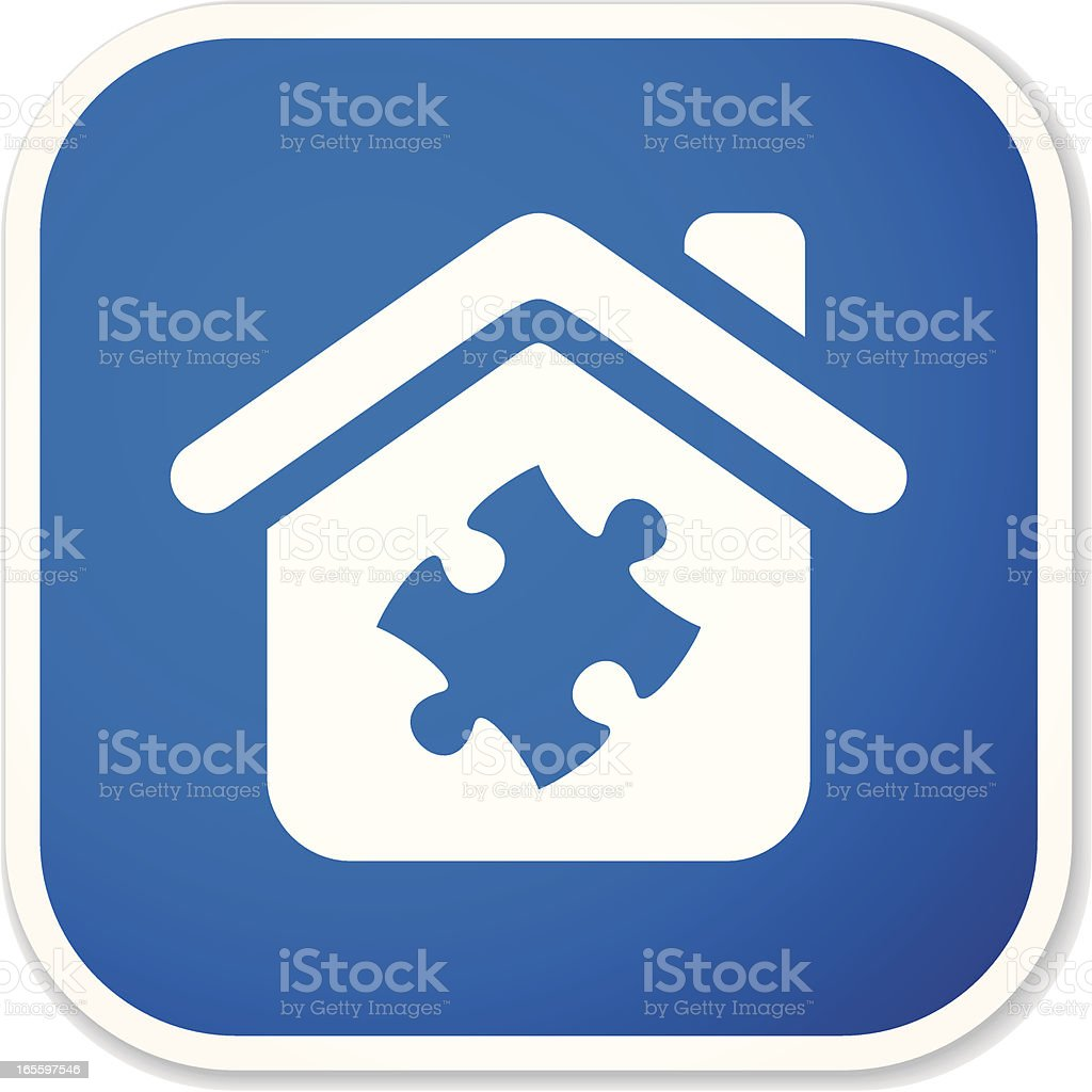 home solution sq sticker royalty-free stock vector art