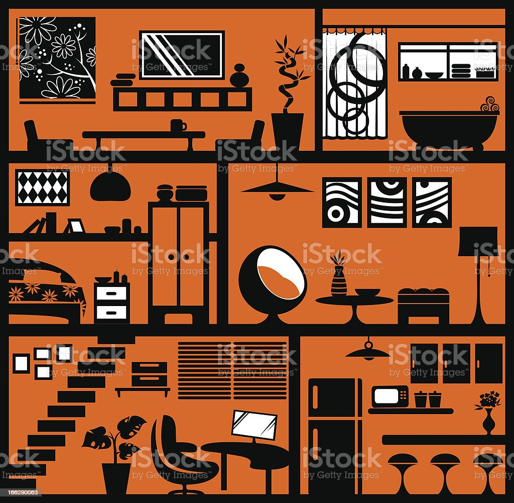 home stlyling royalty-free stock vector art