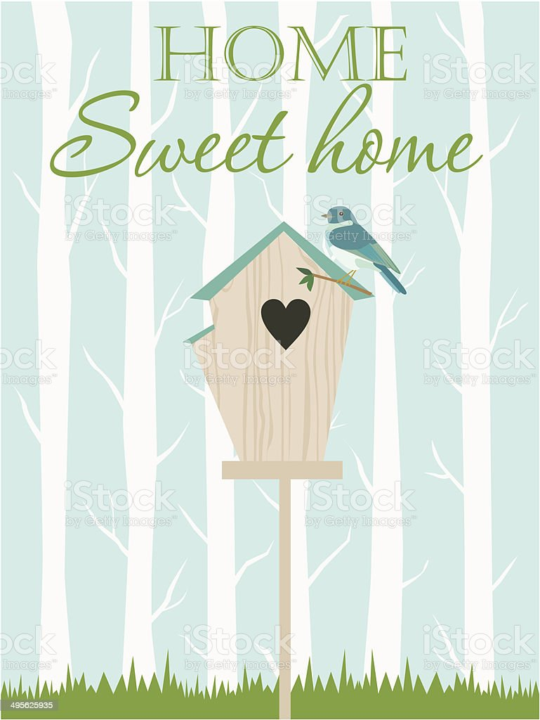 Home sweet home card vector art illustration