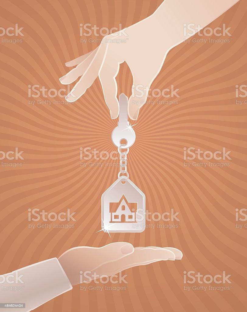 Home Sweet Home Key vector art illustration