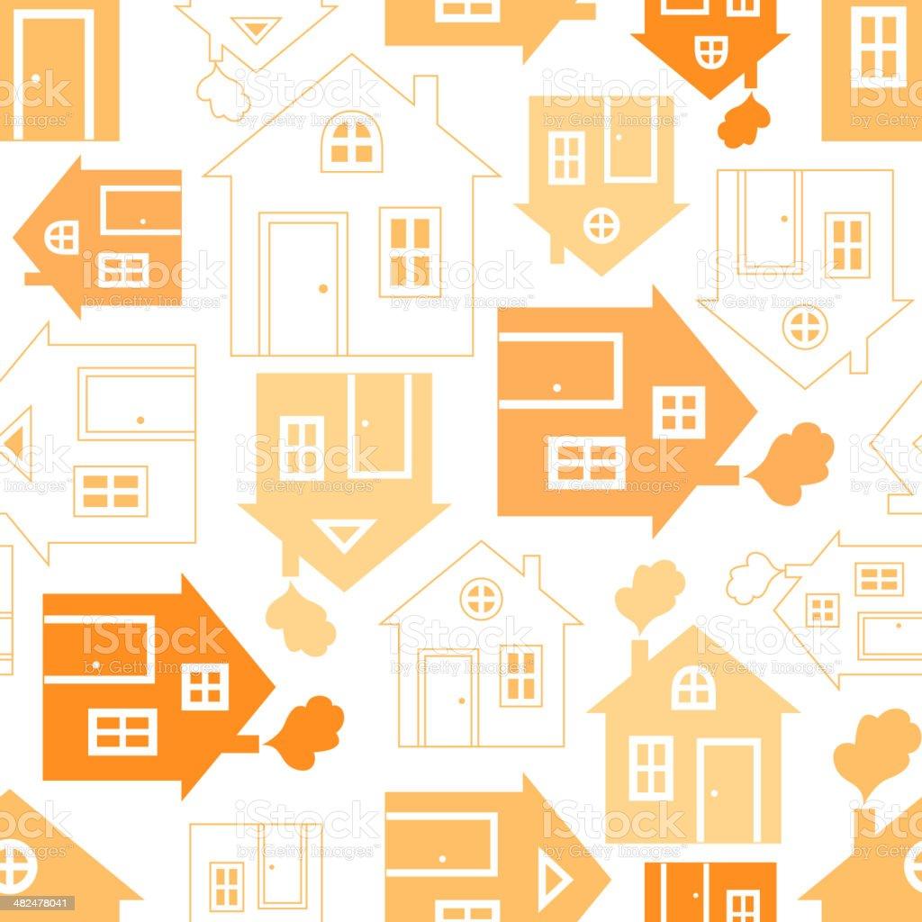 Home sweet house silhouette vector art illustration