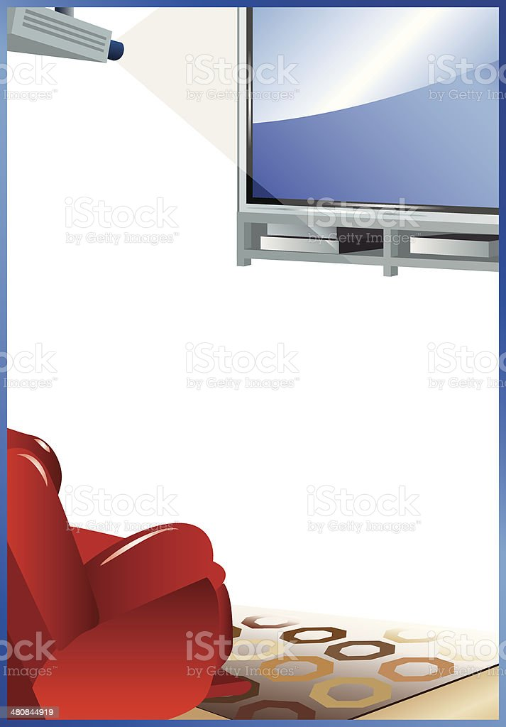 Home Theater Frame C vector art illustration