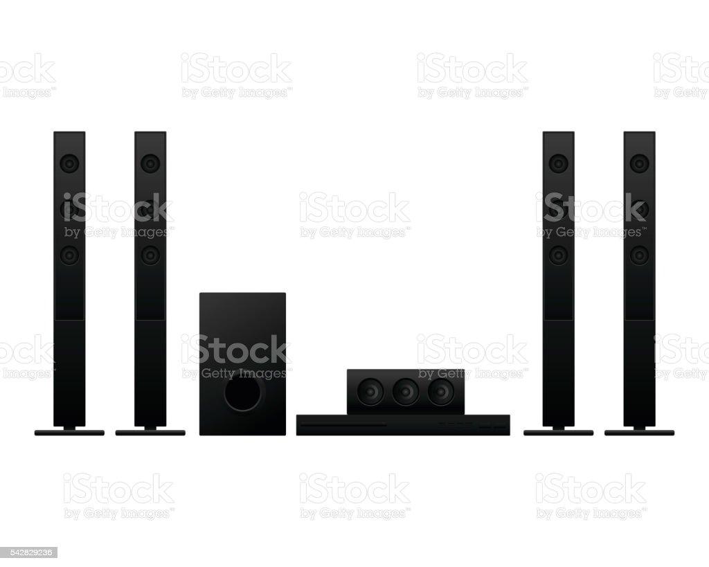 Home theater on white background vector illustration vector art illustration
