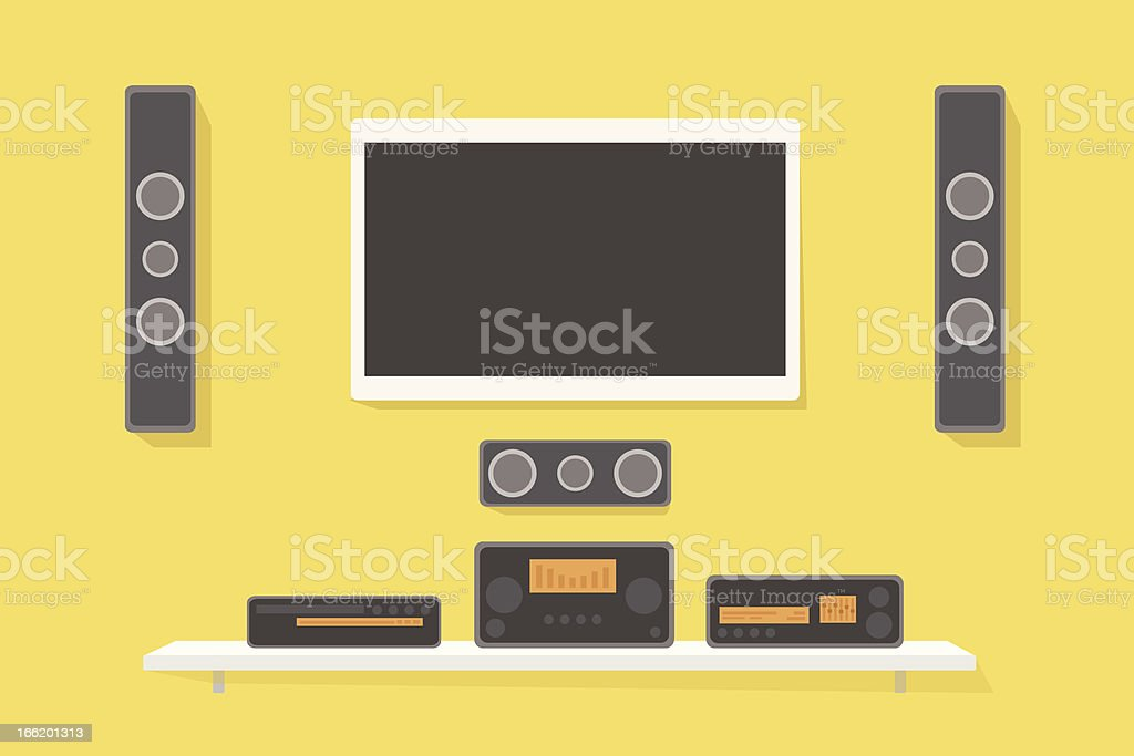 home theater vector art illustration