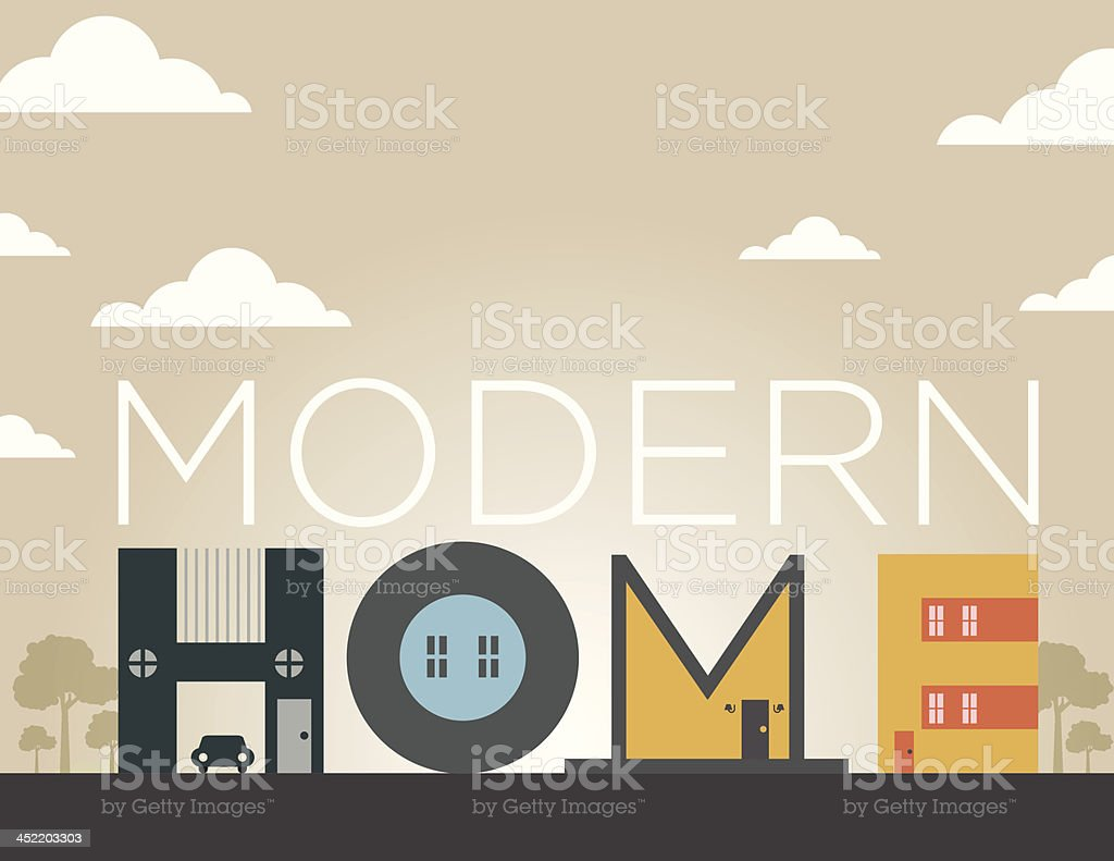 Home Type Illustration vector art illustration