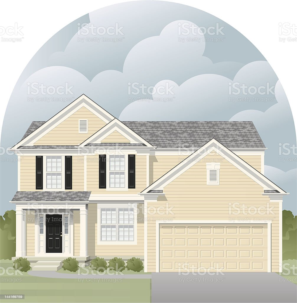 home vector art illustration