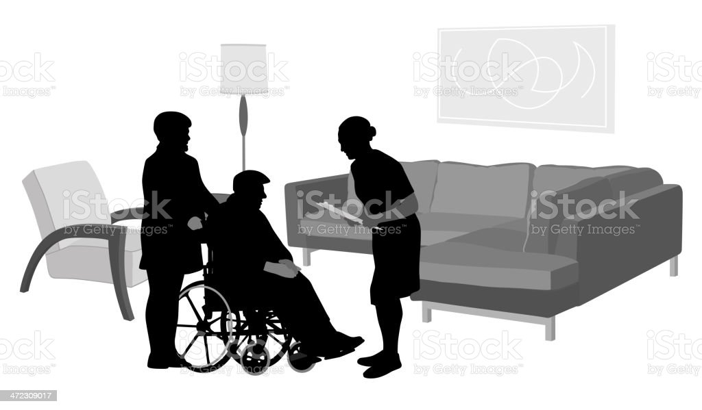 Home Visit royalty-free stock vector art