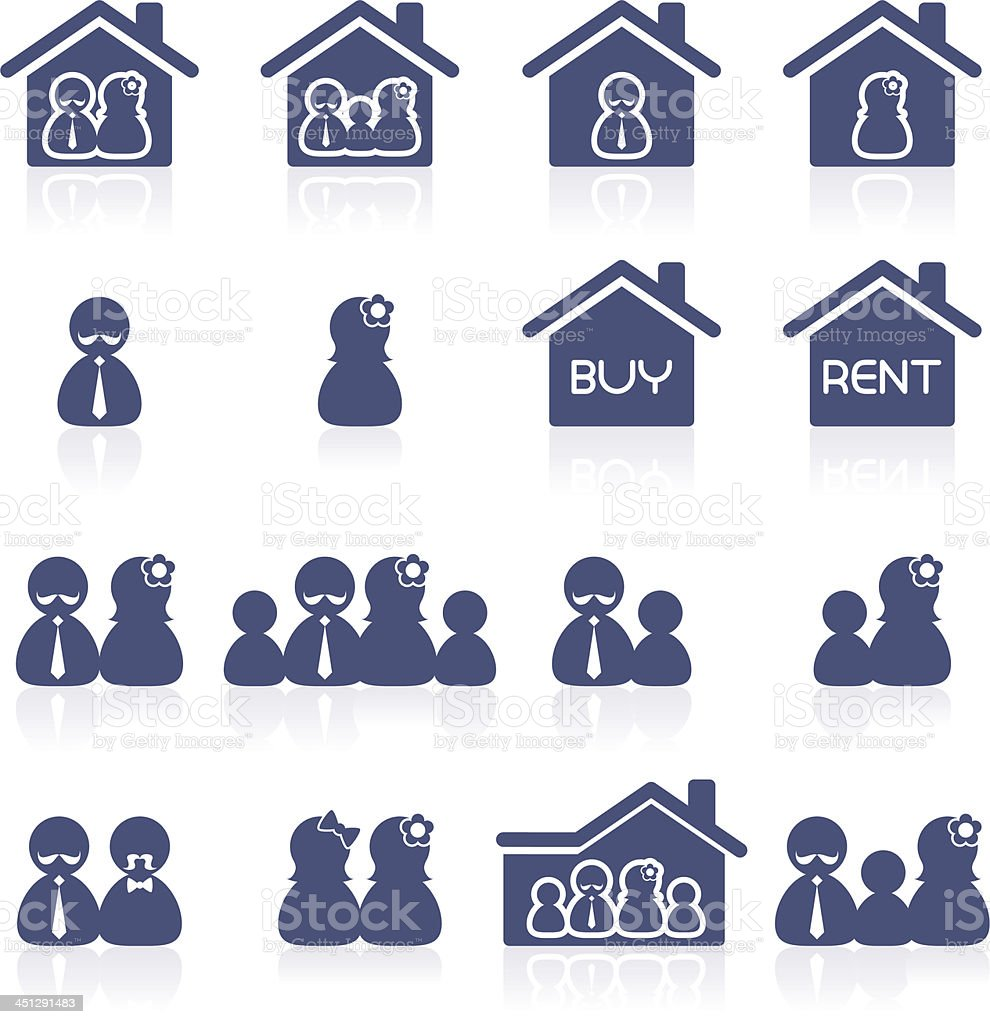 Home-buyers interface icon royalty-free stock vector art
