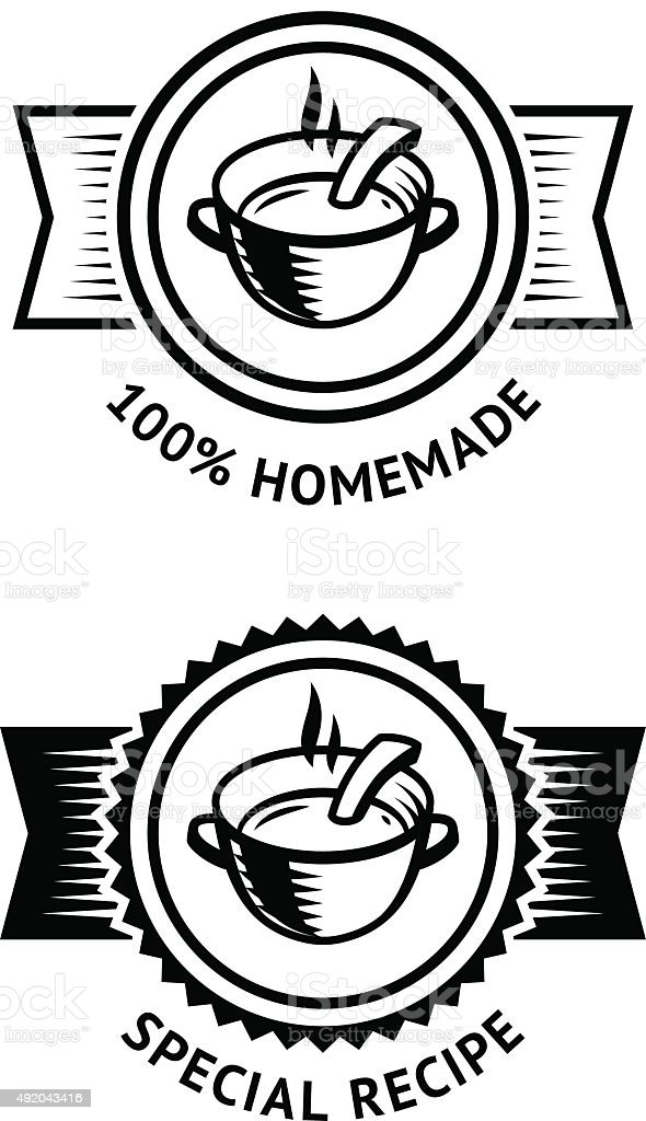 Homemade and Special Recipe Badges vector art illustration
