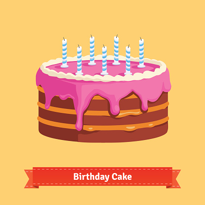 Birthday Cake Clip Art, Vector Images & Illustrations - iStock