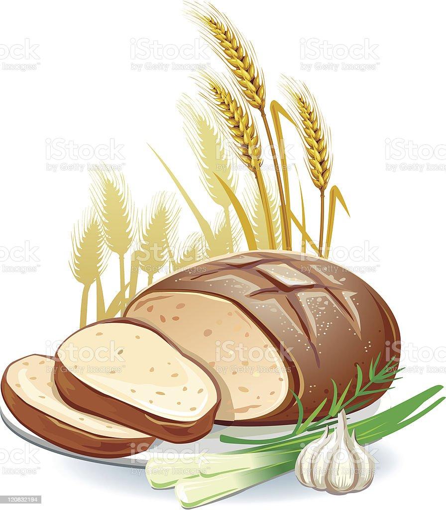 Homemade bread royalty-free stock vector art