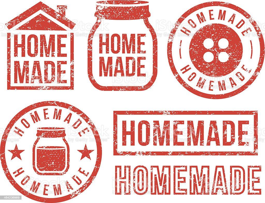Homemade - rubber stamps vector art illustration