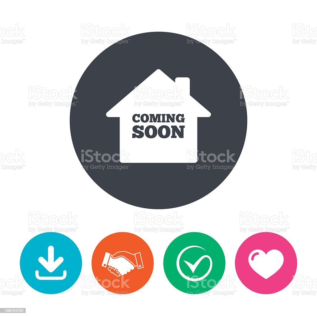 Homepage coming soon icon vector art illustration