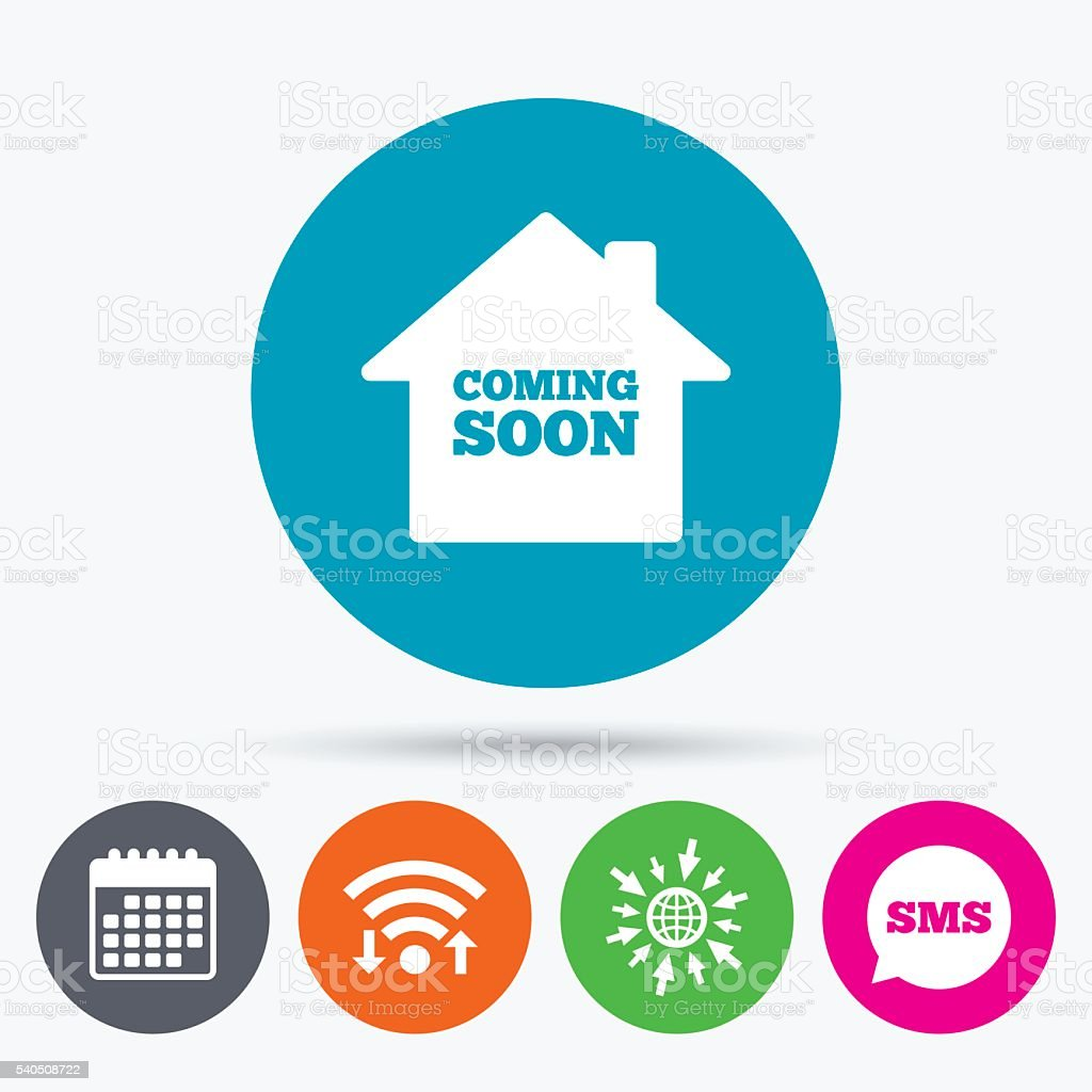 Homepage coming soon icon. vector art illustration