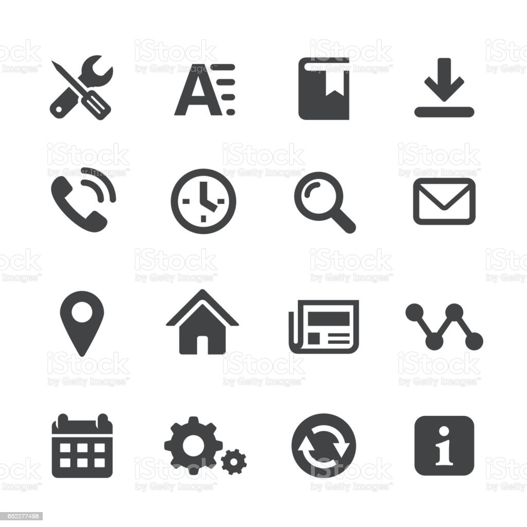 Homepage Icons Set - Acme Series vector art illustration