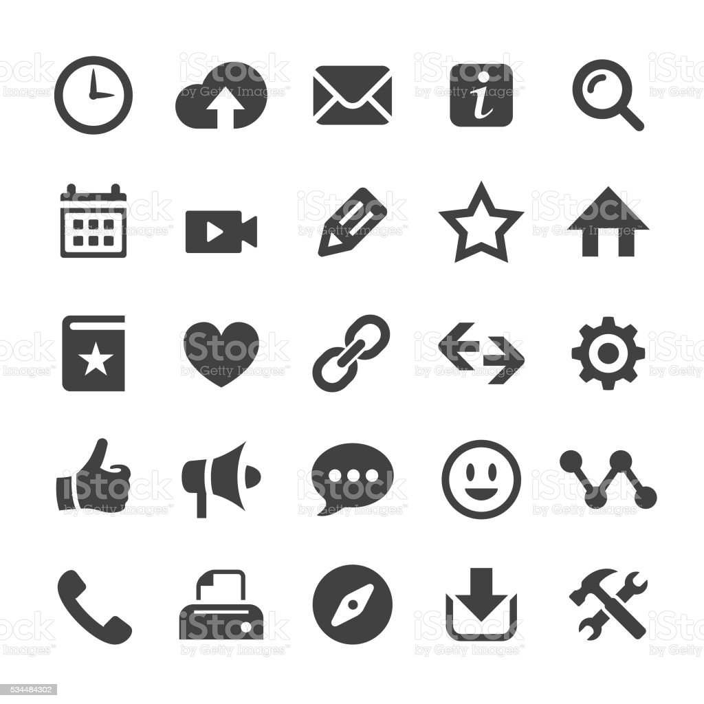Homepage Icons - Smart Series vector art illustration