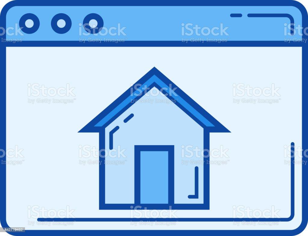 Homepage line icon vector art illustration