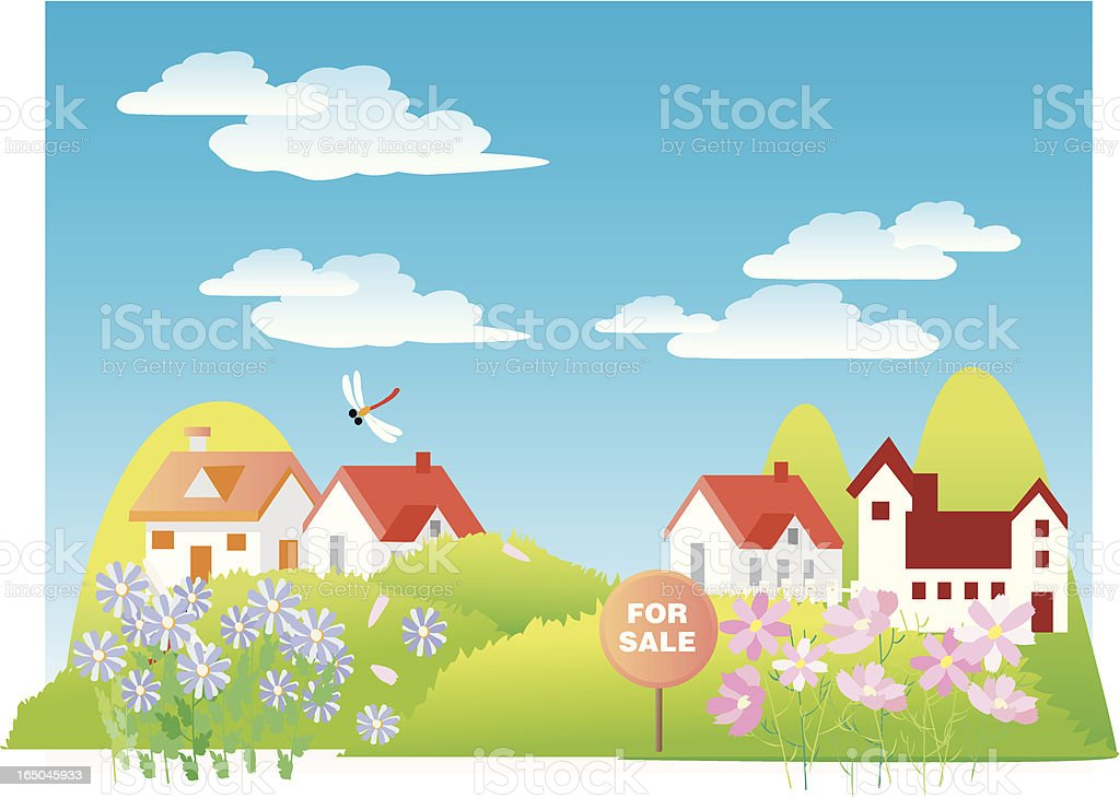 Homes for Sale royalty-free stock vector art