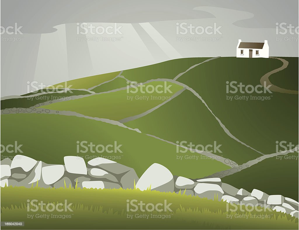Homescapes - Ireland vector art illustration